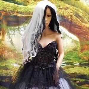 """""""WILLOW"""" Black & White Wedding Ballgown Set"""